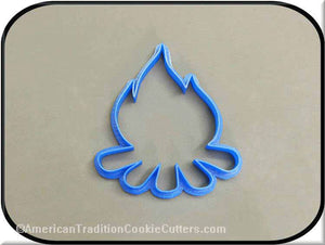 "4"" Campfire 3D Printed Plastic Cookie Cutter - American Tradition Cookie Cutters"