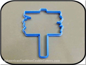 "5"" Wooden Sign 3D Printed Plastic Cookie Cutter-americantraditioncookiecutters"