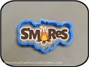 "5"" S'mores Word 3D Printed Plastic Cookie Cutter-americantraditioncookiecutters"