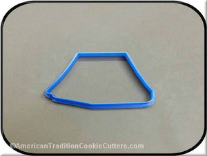 "4.5"" Tent 3D Printed Plastic Cookie Cutter-americantraditioncookiecutters"