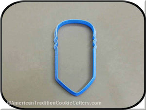 "4.5"" Pencil 3D Printed Plastic Cookie Cutter-americantraditioncookiecutters"