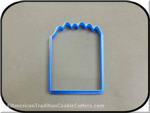 "4"" Box of Crayons 3D Printed Plastic Cookie Cutter - American Tradition Cookie Cutters"