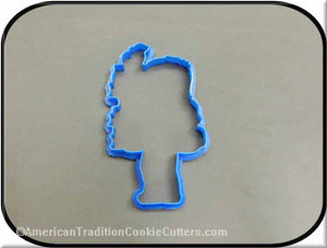 "5"" School Boy Carrying Books 3D Printed Plastic Cookie Cutter-americantraditioncookiecutters"