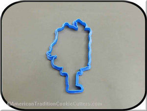 "5"" School Girl Carrying Books 3D Printed Plastic Cookie Cutter"