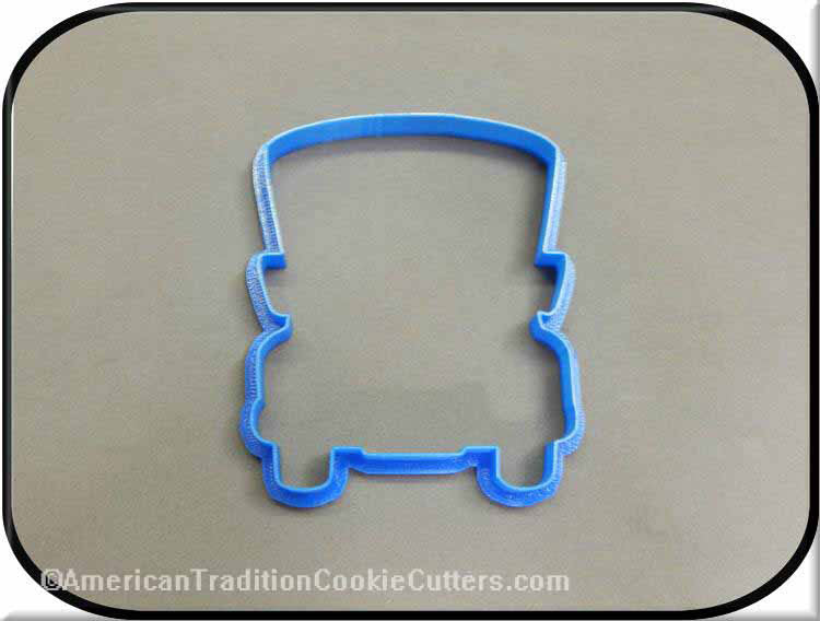 "4.75"" School Bus 3D Printed Plastic Cookie Cutter"