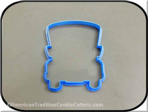 "4.75"" School Bus 3D Printed Plastic Cookie Cutter-americantraditioncookiecutters"