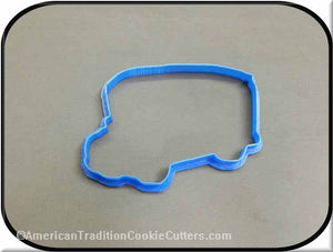 "5"" School Bus 3D Printed Plastic Cookie Cutter"