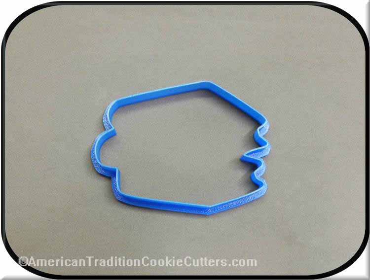 "4"" Stack of Books 3D Printed Plastic Cookie Cutter-americantraditioncookiecutters"