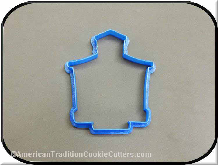 "4"" School House 3D Printed Plastic Cookie Cutter"