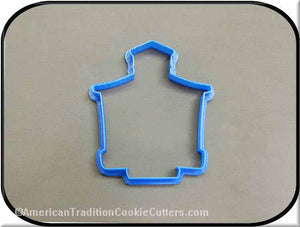 "4"" School House 3D Printed Plastic Cookie Cutter-americantraditioncookiecutters"