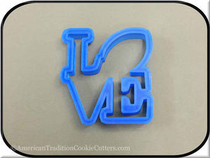 "4"" Football Love 3D Printed Plastic Cookie Cutter"