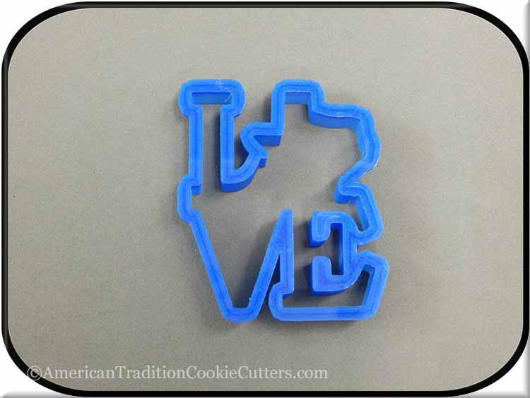 "4"" Texas Love 3D Printed Plastic Cookie Cutter-americantraditioncookiecutters"
