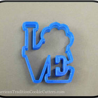 "4"" Dog Love 3D Printed Plastic Cookie Cutter-americantraditioncookiecutters"