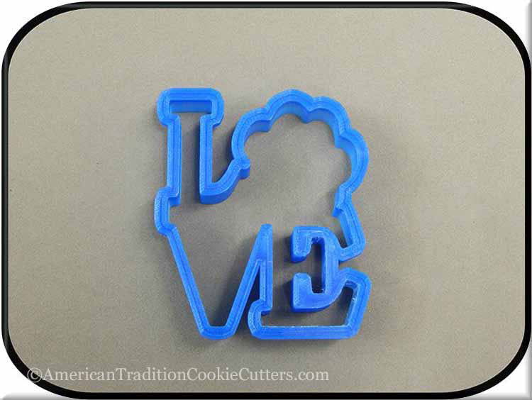 "4"" Dog Love 3D Printed Plastic Cookie Cutter"