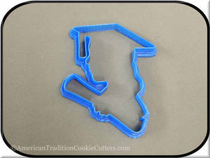 "5"" Graduation Girl with Diploma 3D Printed Plastic Cookie Cutter"