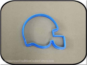 "4"" Football Helmet 3D Printed Plastic Cookie Cutter-americantraditioncookiecutters"