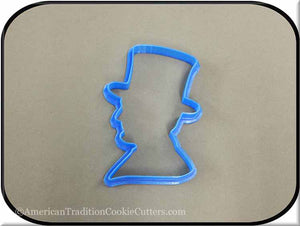 "4.5"" Abraham Lincoln Silhouette 3D Printed Plastic Cookie Cutter"