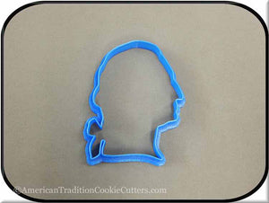 "4"" George Washington Silhouette 3D Printed Plastic Cookie Cutter"
