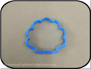 "3.5"" Seashell 3D Printed Plastic Cookie Cutter - American Tradition Cookie Cutters"
