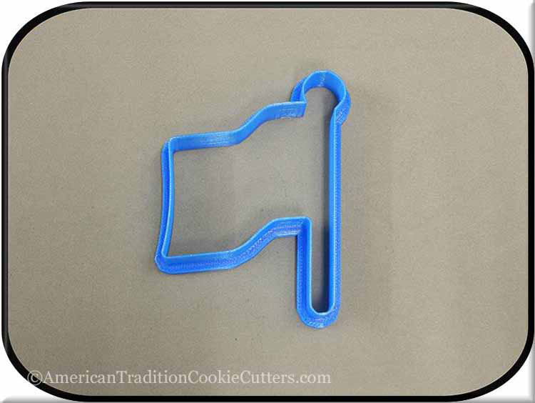 "4"" Flag 3D Printed Plastic Cookie Cutter-americantraditioncookiecutters"