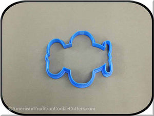"4"" Airplane 3D Printed Plastic Cookie Cutter"