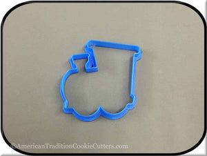 "4.5"" Locomotive 3D Printed Plastic Cookie Cutter"