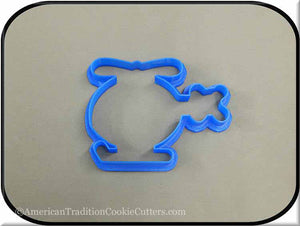"4.75"" Helicopter 3D Printed Plastic Cookie Cutter"