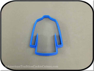 "4"" Lab Coat 3D Printed Plastic Cookie Cutter"