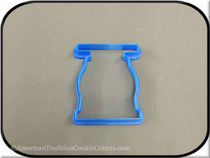 "3.5"" Scale 3D Printed Plastic Cookie Cutter"