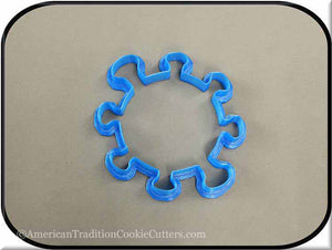"4.25"" Virus 3D Printed Plastic Cookie Cutter"