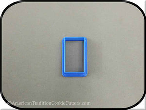 "2"" Rectangle 3D Printed Plastic Cookie Cutter - American Tradition Cookie Cutters"