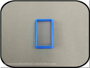 "2.5"" Rectangle 3D Printed Plastic Cookie Cutter - American Tradition Cookie Cutters"