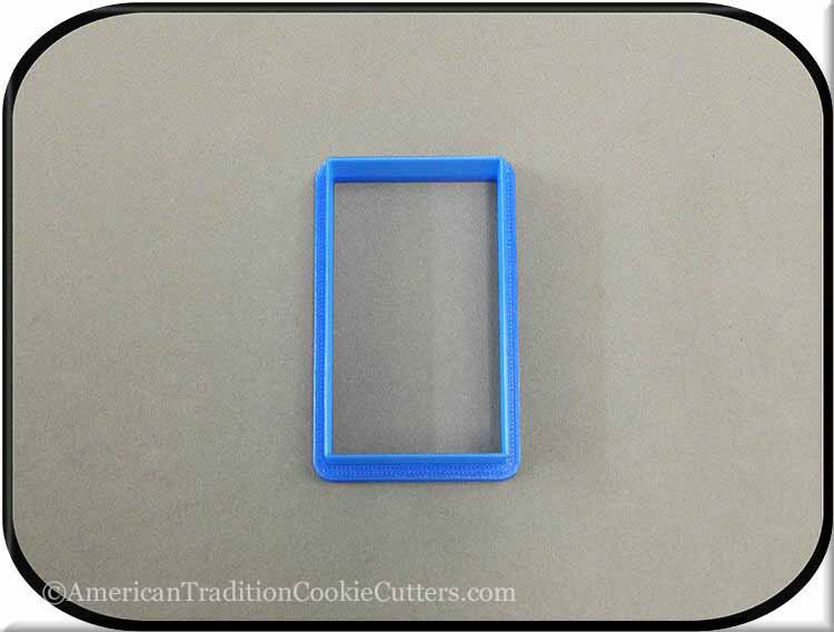 "3"" Rectangle 3D Printed Plastic Cookie Cutter"
