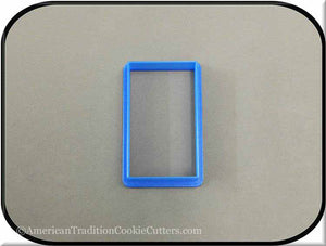"3"" Rectangle 3D Printed Plastic Cookie Cutter - American Tradition Cookie Cutters"