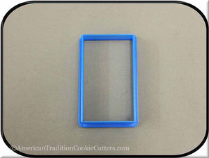 "3.5"" Rectangle 3D Printed Plastic Cookie Cutter"