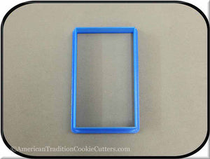 "4"" Rectangle 3D Printed Plastic Cookie Cutter-americantraditioncookiecutters"