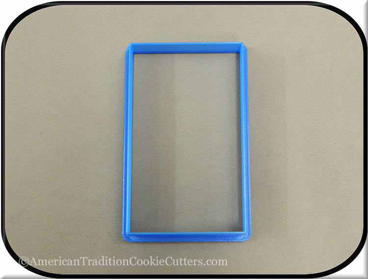 "4.5"" Rectangle 3D Printed Plastic Cookie Cutter-americantraditioncookiecutters"
