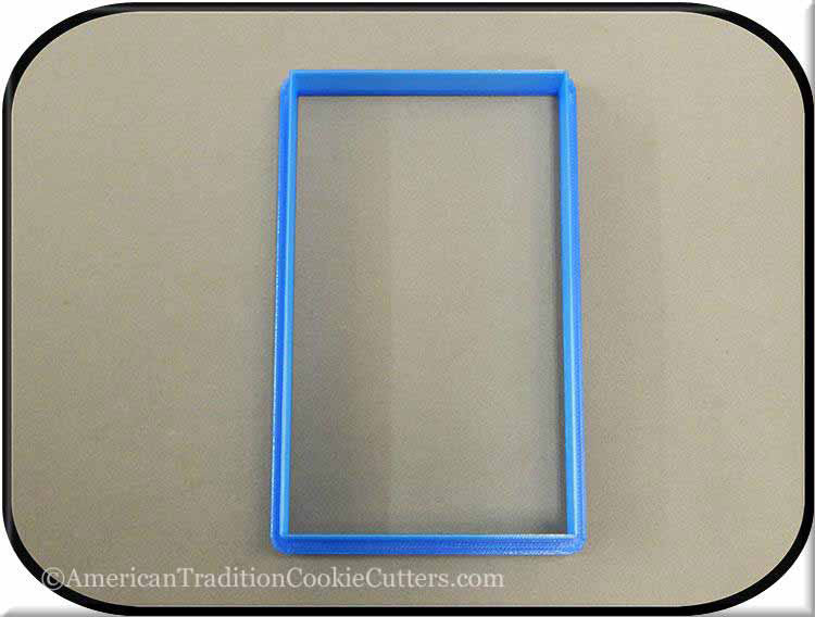 "5"" Rectangle 3D Printed Plastic Cookie Cutter-americantraditioncookiecutters"