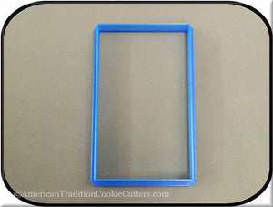 "5"" Rectangle 3D Printed Plastic Cookie Cutter"
