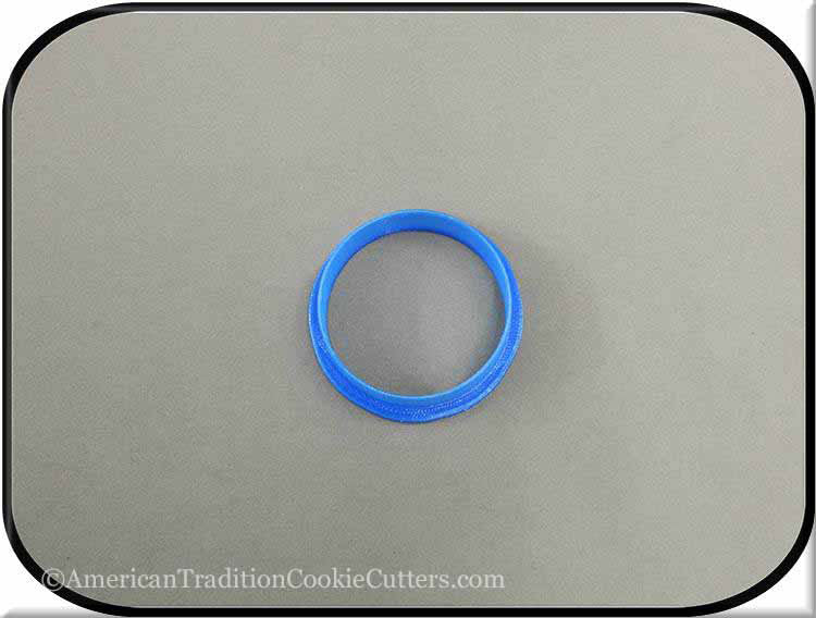 "2"" Round Biscuit 3D Printed Plastic Cookie Cutter"