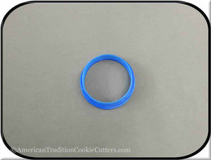 "2"" Round Biscuit 3D Printed Plastic Cookie Cutter - American Tradition Cookie Cutters"