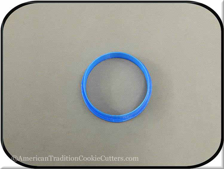 "2.5"" Round Biscuit 3D Printed Plastic Cookie Cutter - American Tradition Cookie Cutters"