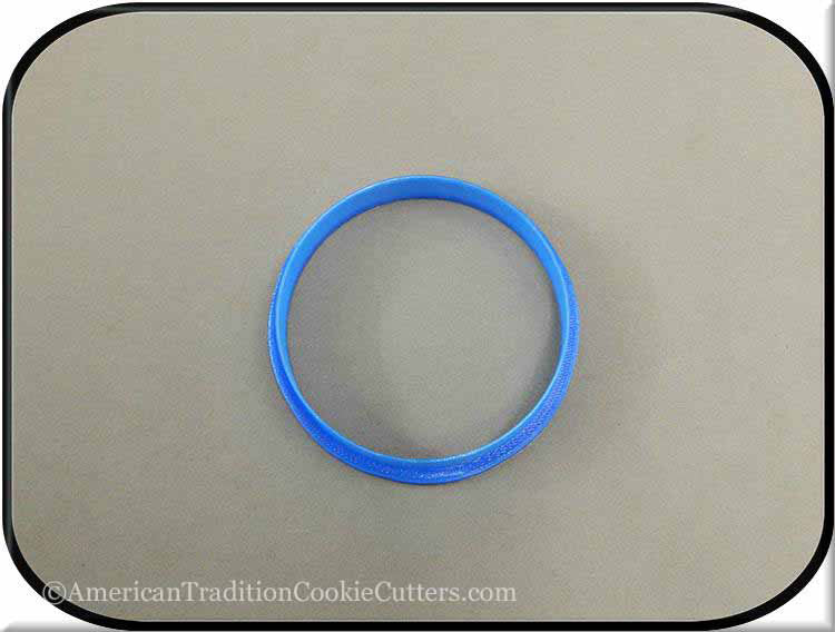 "3"" Round Biscuit 3D Printed Plastic Cookie Cutter - American Tradition Cookie Cutters"