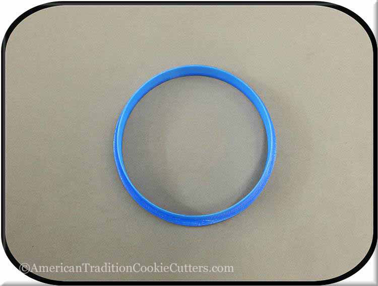 "3.5"" Round Biscuit 3D Printed Plastic Cookie Cutter - American Tradition Cookie Cutters"