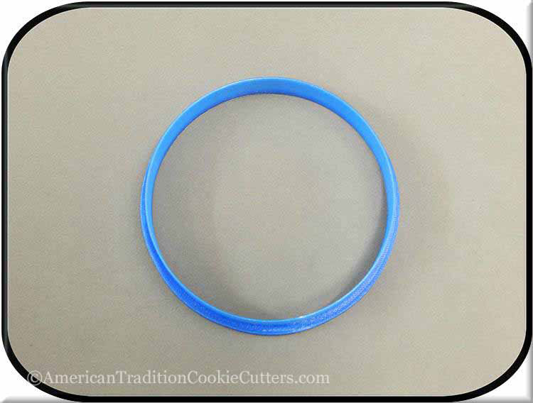 "4"" Round Biscuit 3D Printed Plastic Cookie Cutter"