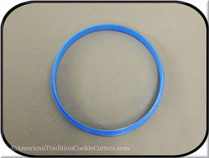 "4.5"" Round Biscuit 3D Printed Plastic Cookie Cutter-americantraditioncookiecutters"