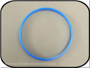 "5"" Round Biscuit 3D Printed Plastic Cookie Cutter-americantraditioncookiecutters"