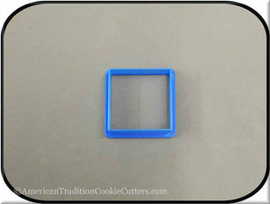 "2"" Square Biscuit 3D Printed Plastic Cookie Cutter - American Tradition Cookie Cutters"