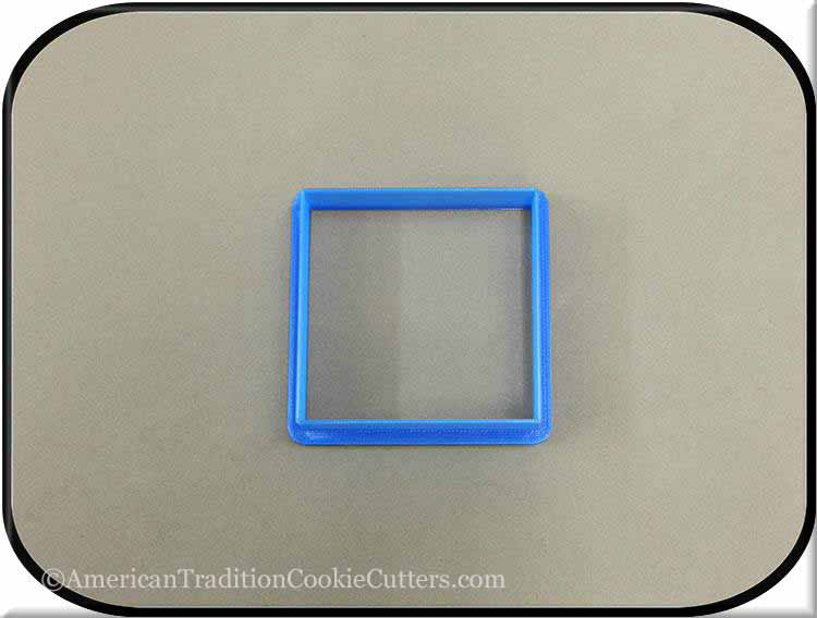 "2.5"" Square Biscuit 3D Printed Plastic Cookie Cutter - American Tradition Cookie Cutters"