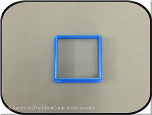 "2.5"" Square Biscuit 3D Printed Plastic Cookie Cutter"